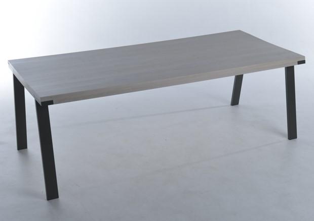 Hedendaags Seven-eiken-noestig-white-wash-poten-antraciet-220x100x77-1 - bert LG-75